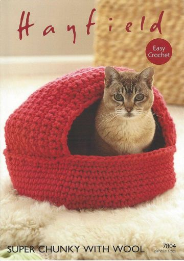 Crochet Baskets & Cat Nest in Super Chunky with Wool Pattern-Hayfield 7804